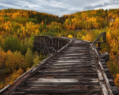 Abandoned Bridge, Alaska